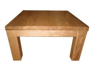 - Table basse carree chene massif ...